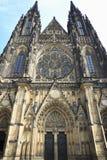 Facciata della cattedrale del san Vitus, Praga Fotografia Stock