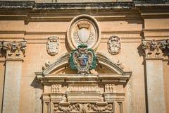 Facciata della cattedrale della st il Paul, Mdina Immagini Stock Libere da Diritti
