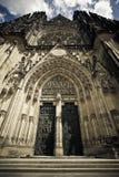 Facciata della cattedrale della st Vitus Fotografia Stock