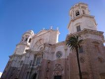 Facciata della cattedrale di Cadice Immagini Stock Libere da Diritti