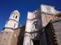 Facciata della cattedrale di Cadice Fotografia Stock Libera da Diritti