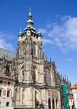 Facciata della cattedrale di vitus del san Fotografie Stock Libere da Diritti