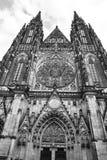 Facciata della cattedrale di vitus della st a Praga Fotografia Stock Libera da Diritti