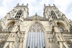 Facciata della cattedrale di York immagini stock libere da diritti