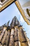 Facciata della cattedrale metropolitana dei san Vitus Fotografia Stock Libera da Diritti