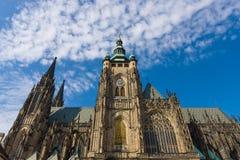 Facciata della cattedrale metropolitana dei san Vitus Fotografia Stock