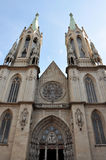 Facciata della cattedrale metropolitana a Sao Paulo Immagini Stock