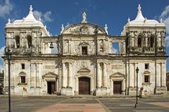 Facciata della cattedrale nicaraguese Fotografia Stock Libera da Diritti