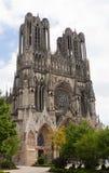 Facciata della cattedrale Notre-Dame di Reims Immagini Stock Libere da Diritti