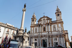 Facciata della chiesa di Palermo Immagini Stock Libere da Diritti
