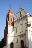 Facciata della chiesa in Gniezno Fotografia Stock Libera da Diritti