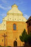 Facciata della chiesa gotica Fotografia Stock