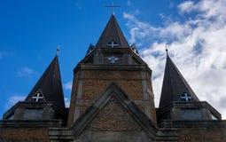 Facciata della chiesa gotica Immagine Stock
