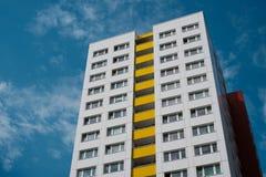 Facciata della costruzione - facciata dell'edificio residenziale, Berlino - Fotografie Stock