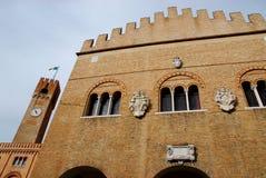 Facciata della costruzione di trecento a Treviso in Veneto (Italia) Immagini Stock Libere da Diritti