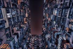 Facciata della costruzione in Hong Kong Fotografie Stock Libere da Diritti