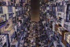 Facciata della costruzione in Hong Kong Fotografia Stock Libera da Diritti