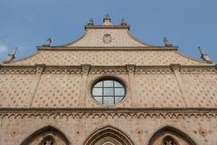 Facciata della costruzione nel centro storico di Vicenza immagini stock libere da diritti