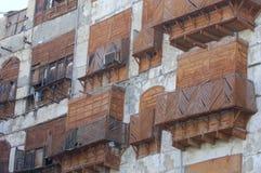 Facciata della costruzione nella vecchia città di Jedda Fotografia Stock Libera da Diritti