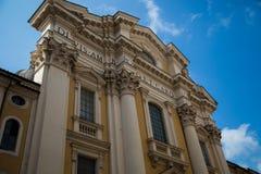 Facciata della costruzione a Roma Fotografia Stock