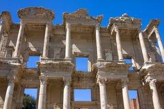 Facciata della libreria antica di Celsus in Ephesus Fotografia Stock