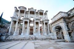 Facciata della libreria centigrado antica in Ephesus Immagine Stock Libera da Diritti