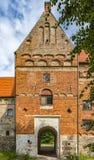 Facciata della torre del castello di Borgeby Immagine Stock