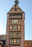 Facciata della torre di orologio Fotografie Stock