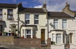 Facciata delle case di Britannici Fotografie Stock Libere da Diritti