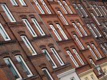 Facciata delle case a Kiel, Germania Fotografia Stock Libera da Diritti