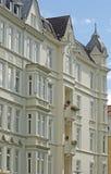 Facciata delle costruzioni a Kiel, Fotografia Stock Libera da Diritti