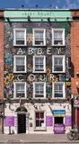 Facciata di Abbey Court Hostel a Dublino, Irlanda Fotografia Stock