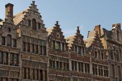 Facciata di Anversa Fotografia Stock Libera da Diritti
