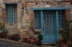 Facciata di Cordes-sur-Ciel Fotografia Stock Libera da Diritti