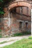 Facciata di costruzione abbandonata Fotografie Stock