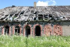 Facciata di costruzione abbandonata Fotografia Stock Libera da Diritti