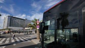 Facciata di Del Mar dell'ospedale a Barcellona video d archivio
