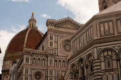 Facciata di Florence Italy Baptistery di San Giovanni con la cupola Santa Maria del Fiore Fotografia Stock
