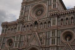 Facciata di Florence Italy Cathedral, Santa Maria del Fiore Fotografia Stock Libera da Diritti