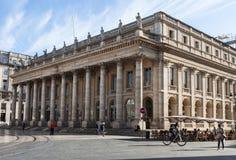 Facciata di grande teatro del Bordeaux, Francia Fotografia Stock Libera da Diritti
