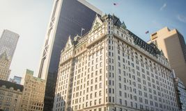 Facciata di Hotel Plaza famoso Fotografia Stock