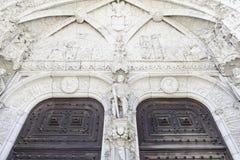 Facciata di Jeronimos a Lisbona Fotografia Stock Libera da Diritti