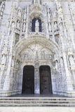 Facciata di Jeronimos a Lisbona Fotografie Stock Libere da Diritti