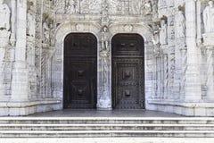 Facciata di Jeronimos a Lisbona Fotografia Stock