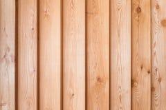 Facciata di legno della casa Fotografia Stock