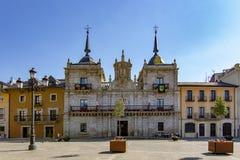 Facciata di municipio di Ponferrada fotografia stock libera da diritti