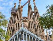 Facciata di passione di Sagrada Familia fotografie stock libere da diritti