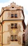 Facciata di Praga fotografie stock