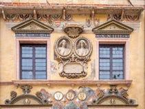 Facciata di Ragione di della di Palazzo precedente municipio, Verona, Italia, Veneto fotografia stock libera da diritti