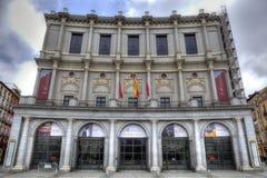 Facciata di Royal Palace a Madrid Immagine Stock Libera da Diritti